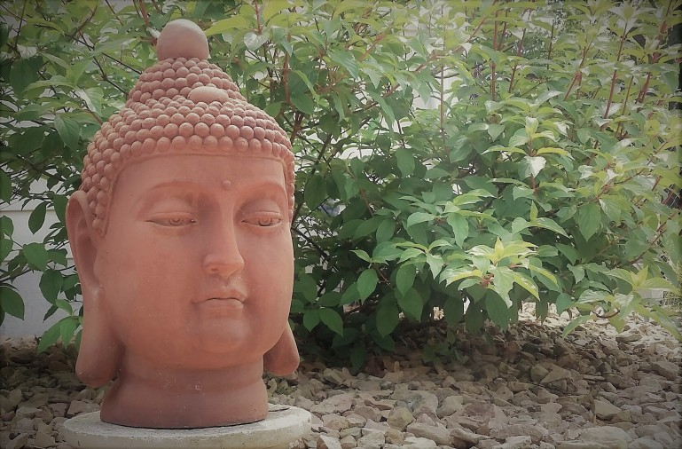 zen, buddha, garden art, backyard oasis, landscaping, relaxing, patio, meditate