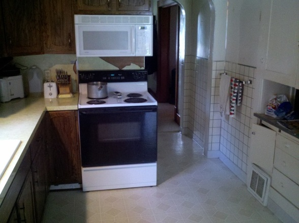 kitchen before remodel demo reno renovation #eroseco