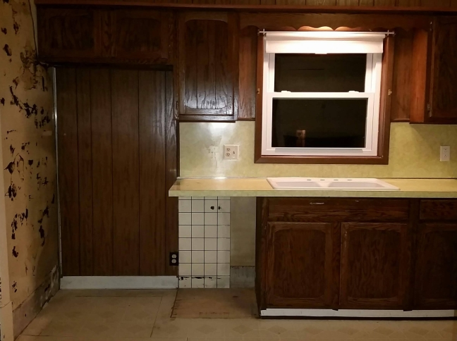 kitchen reno renovation remodel demo before after gut reveal #eroseco