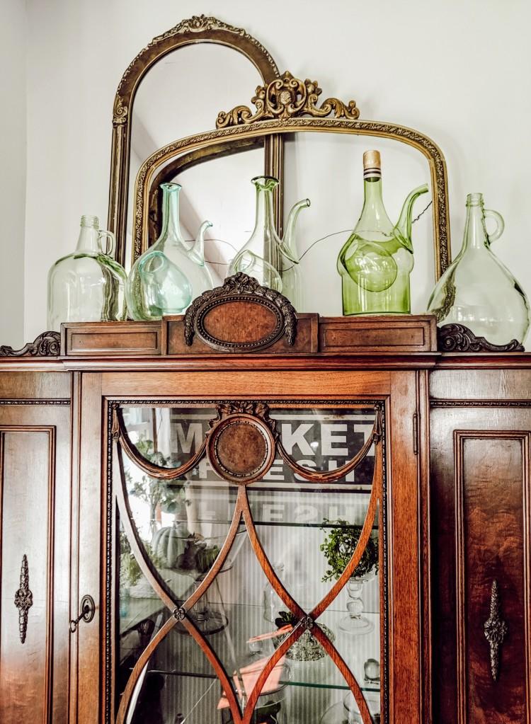 home decor vintage hutch buffet cabinet fall autumn farmhouse fixerupper
