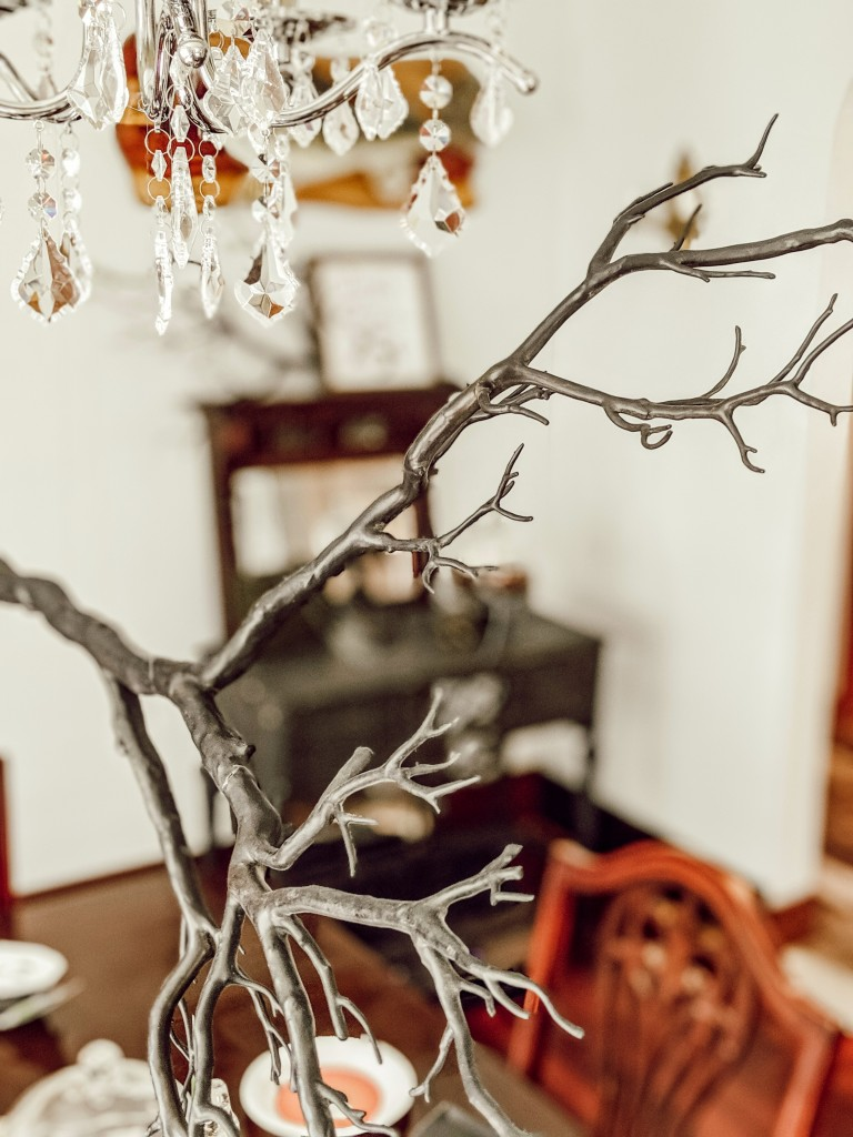 hanging branch, chandelier